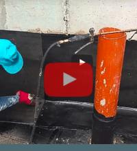 חיבור יריעה כפולה באיטום קירות מרתף