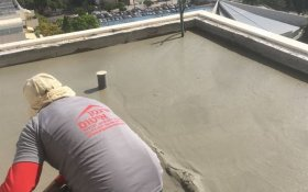 ביצוע יציקת בטקל על גג בקומה 22 תל אביב